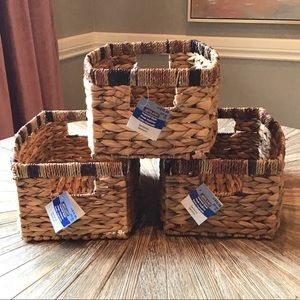 NEW SET OF 3 STORAGE BASKETS